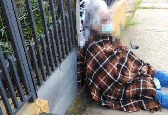 Anciana de 88 años desalojada por su hija en cuarententa por Covid-19. Foto: twitter