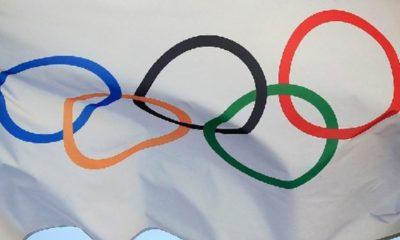 Bandera Juegos Olímpicos. Foto: Twitter