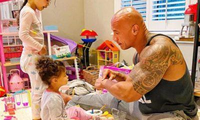 Dwayne La Roca Johnson y su familia