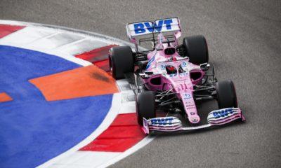 Checo roza el podio en el GP de Rusia de la Fórmula 1. Foto: Twitter Checo Pérez