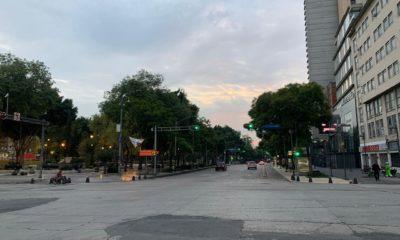 FRENAAA libera Avenida Juárez. Foto: Israel Lorenzana