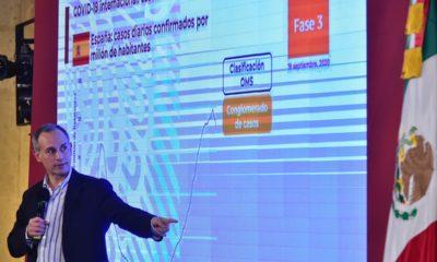 Hugo López-Gatell en conferencia de prensa. Foto: Twitter López-Gatell