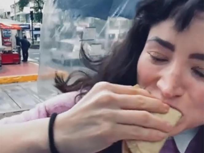 #Lady3Pesos como tacos de Chicharrón. Foto: Twitter
