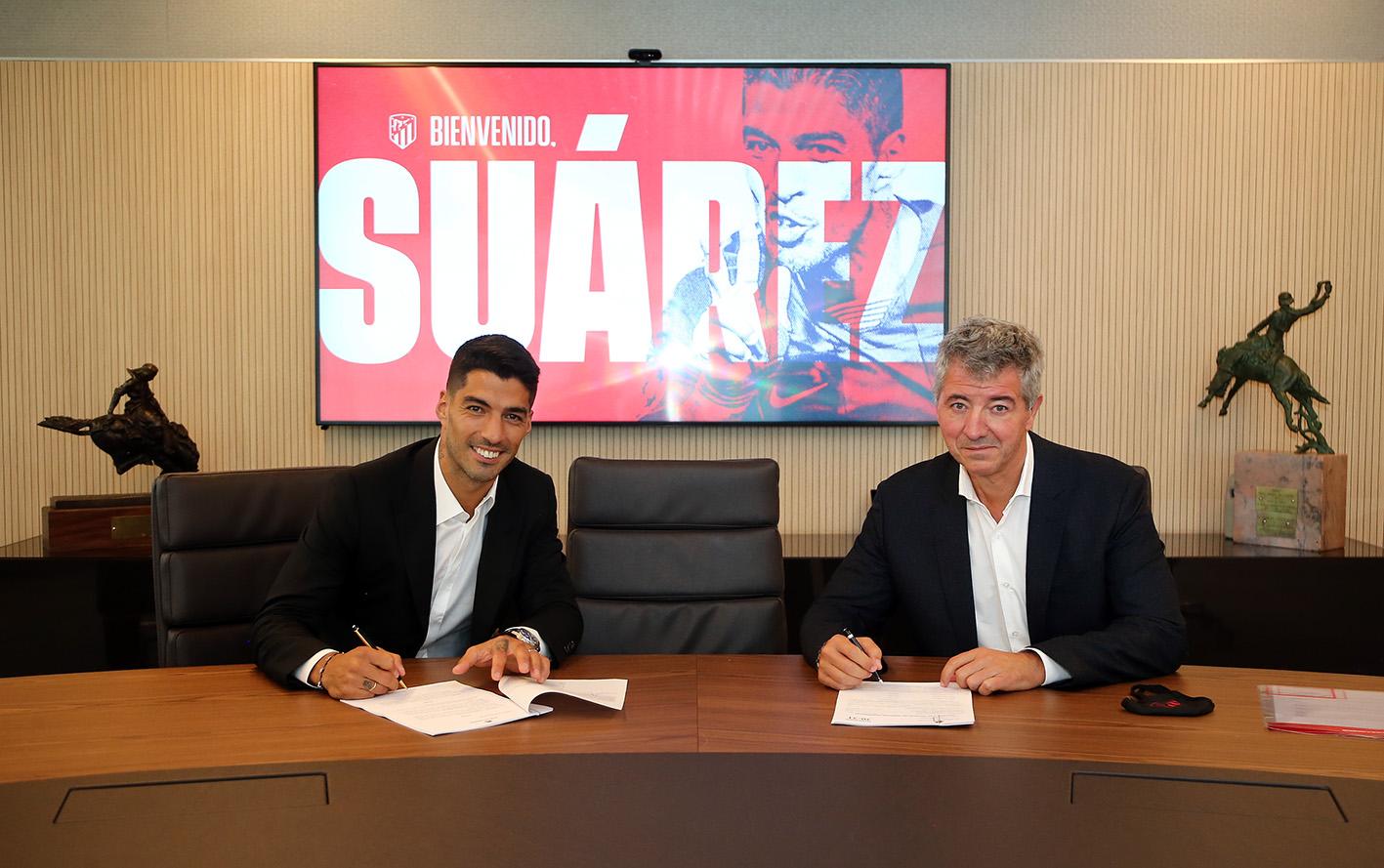 Luis Suárez fue presentado del Atlético de Madrid. Foto: Twitter Atlético de Madrid