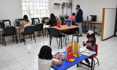 Kioskos educativos en la Magdalena Contreras. Foto: Israel Lorenzana