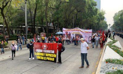 Protestan por la desaparición de normalistas de Ayotzinapa: Foto: Israel Lorenzana