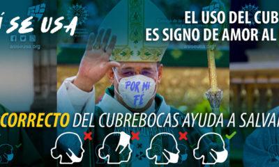 Obispos son imagen en campaña de uso correcto de cubrebocas