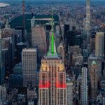 L'Empire State brille en vert, blanc et rouge