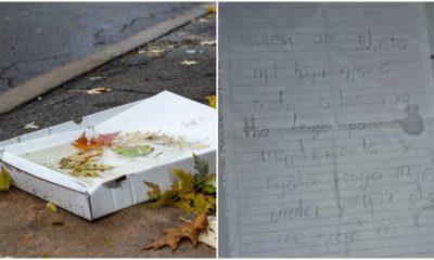 Abandonan a bebé dentro de una caja de pizza. Foto: Facebook