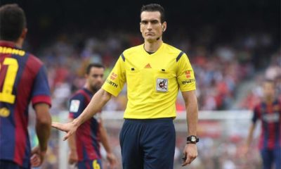 Aseguran que árbitro le va al real madrid. Foto: Twitter