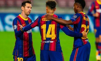 Barcelona goleó en la Champions. Foto: Twitter Barcelona