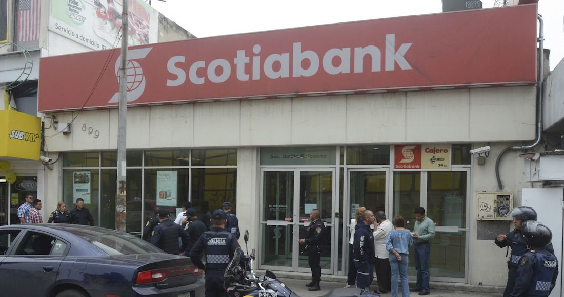 Denuncia robo en Scotiabank. Foto: Twitter