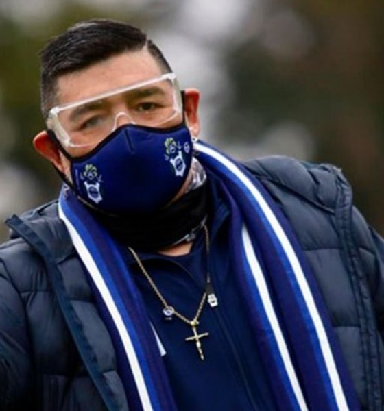 Diego Maradona negativo por Covid-19. Foto: Twitter @gimnasiaoficial