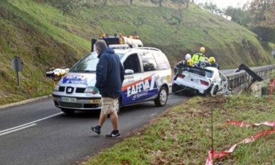 Muere piloto de Rally tras grave accidente. Foto: Twitter