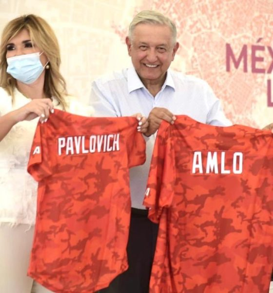 Pide López Obrador a opositores que no coman ansias. Foto: Twitter Claudia Pavlovich