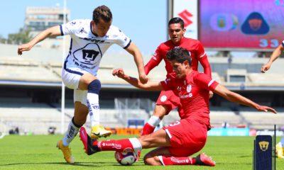 Pumas le pegó a Toluca. Foto: Twitter Pumas