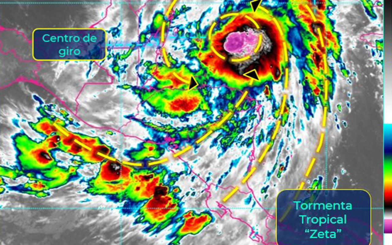 """Quintana Roo emite """"Alertas"""" por arribo de Tormenta Tropical Zeta"""