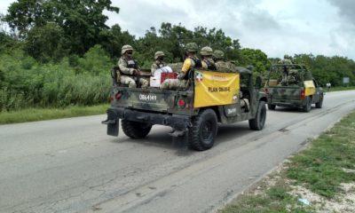 """Ejército activa el Plan DN-III-E por el paso de """"Zeta"""" en Quintana Roo"""