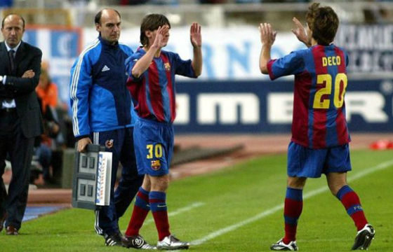 Recuerdan el debut de Messi. Foto: Twitter Barcelona