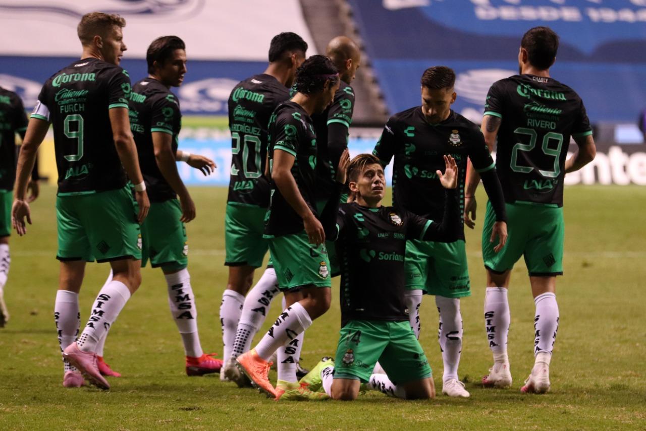 Santos sorprende a Puebla. Foto: Twitter Santos Laguna