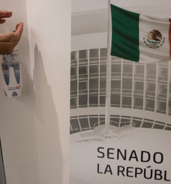 Legisladores se protegen ante contagios de Covid en el Senado