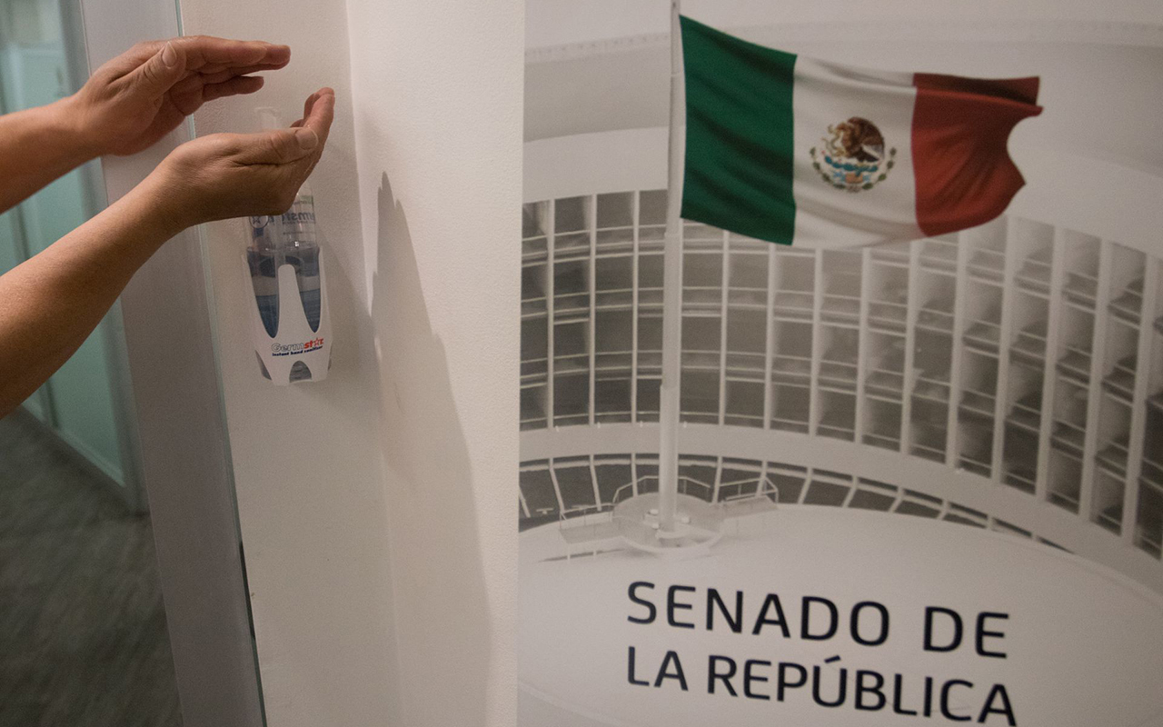 Legisladores se protegen ante contagios de Covid en el Senado. Noticias en tiempo real