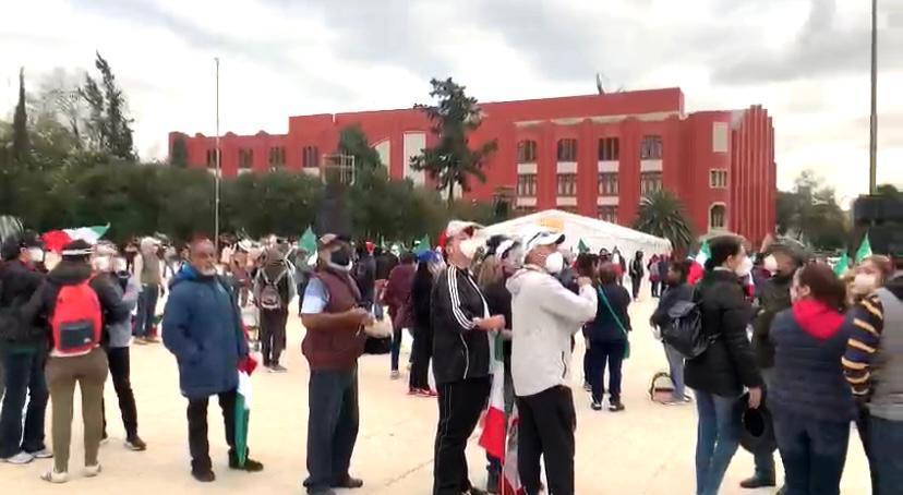 FRENAAA inicia nueva movilización. Foto: Israel Lorenzana