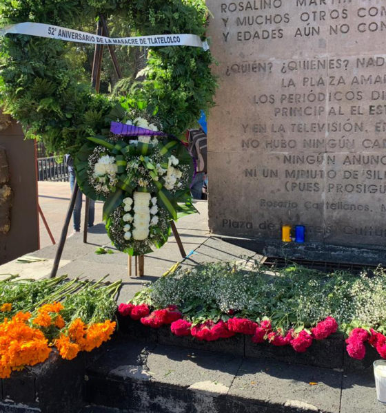 Sin marcha, recuerdan a víctimas de la masacre del 68