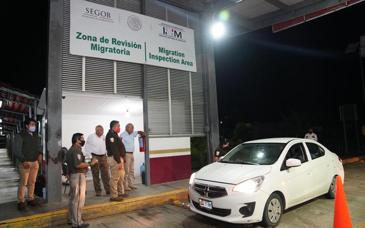 Despliegan operativo en frontera sur de México ante caravana migratoria