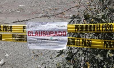 Clausuran tiraderos de cascajo en la carretera Naucalpan-Toluca