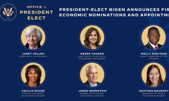 Anuncia Joe Biden a su equipo económico en EU