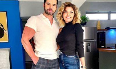 Eleazar Gómez con Itati Cantoral en un descanso de La Mexicana y el Güero