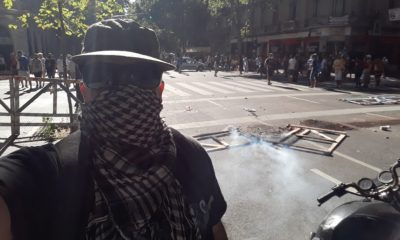 Disturbios en Argentina por Maradona. Foto: Twitter