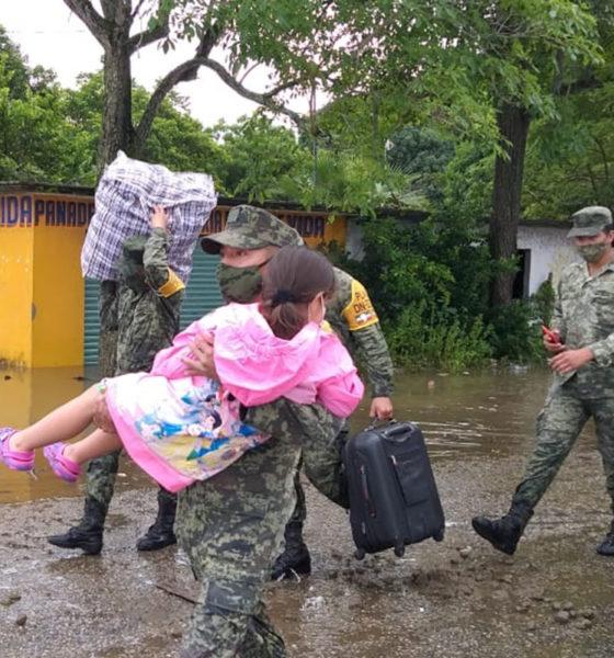 Ejército Mexicano apoya a damnificados por inundaciones