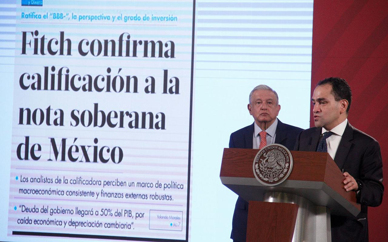 Gobierno se congratula de calificación de Fitch Ratings a México