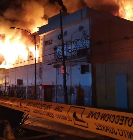 Fuerte incendio por el metro Coyoacán. Foto: Twitter Alcaldía BJ