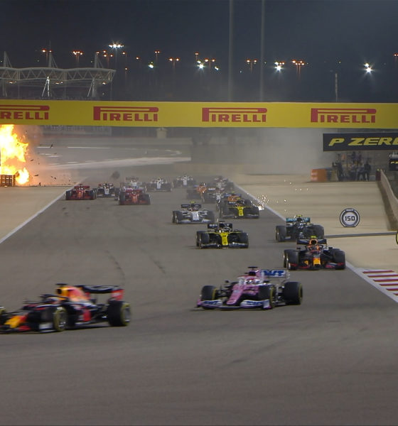 Grave accidente en la fórmula 1 de Romain Grosjean. Foto: F1