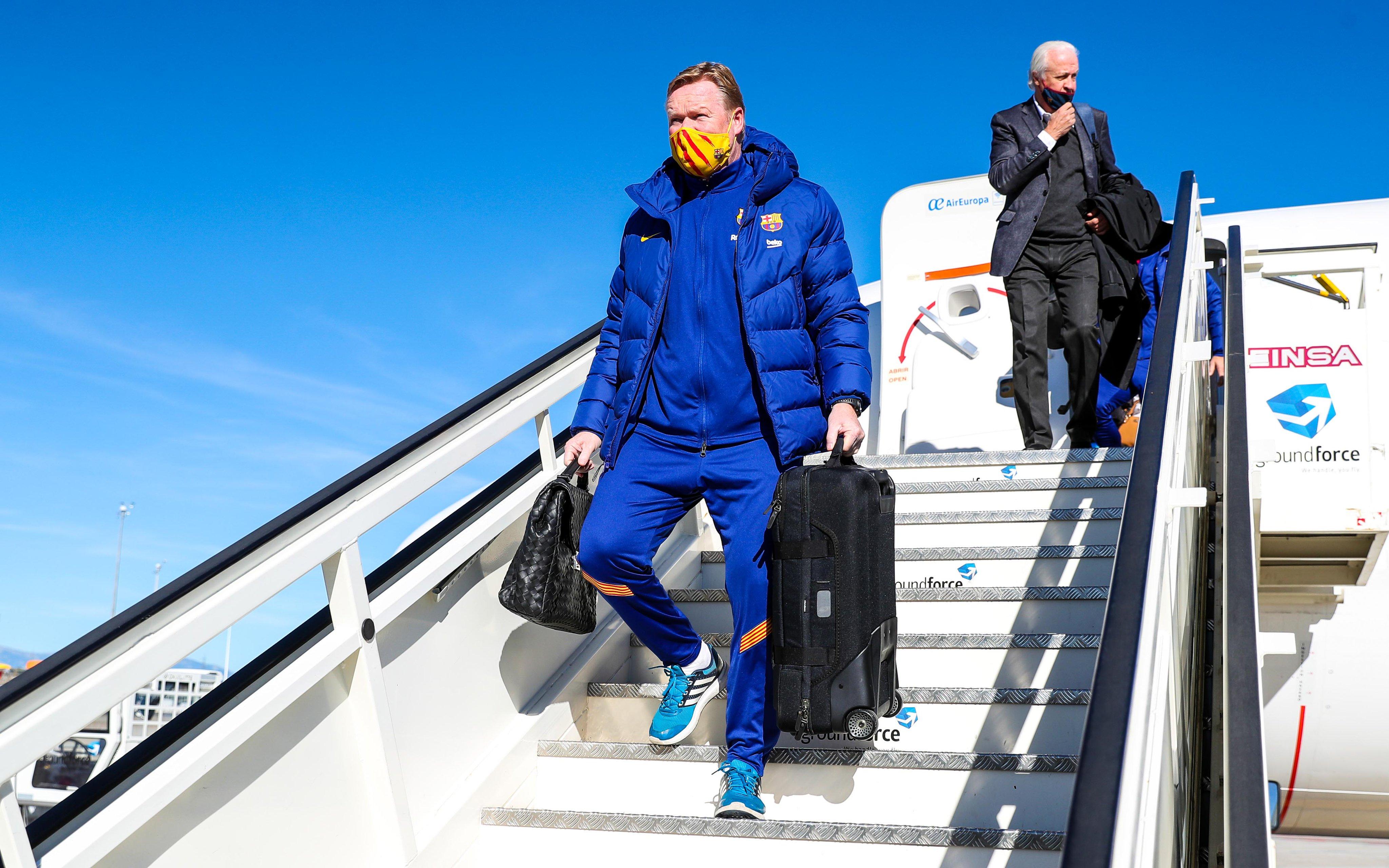 Ronald Koeman baja a Messi de la convocatoria. Foto; Barcelona