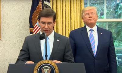 Trump despide al secretario de Defensa de EU