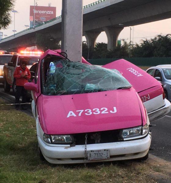 Taxis sufre grave accidente. Foto: Israel Lorenzana