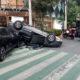 Autos chocan en calles de la CDMX; no hubo víctimas