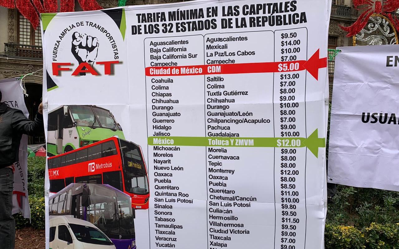 Transportistas amagan con parar servicio en CDMX
