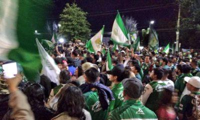 Aficionados de León olvidan el Covid. Foto: Twitter
