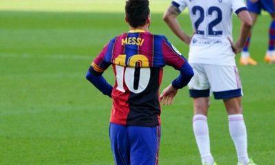 Bajan a Messi del partido de Champions. Foto: Twitter Barcelona