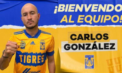 Carlos González llega a Tigres. Foto: Twitter Tigres