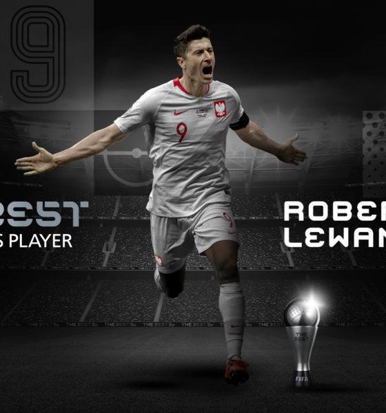FIFA le entrega a Lewandovsky el premio The Best. Foto: Twitter FIFA