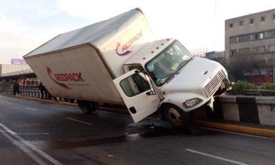 Fuerte accidente sobre calzada de Tlalpan. Foto: Israel Lorenzana