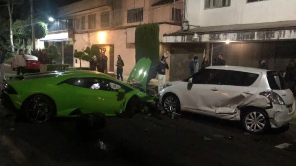 Lamborghini quedó destrozado. Foto: Twitter