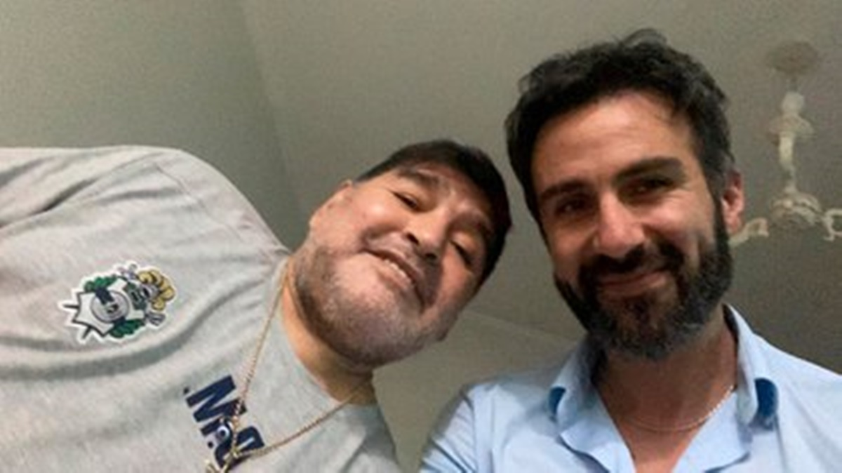 Maradona con Leopoldo Luque. Foto: Twitter