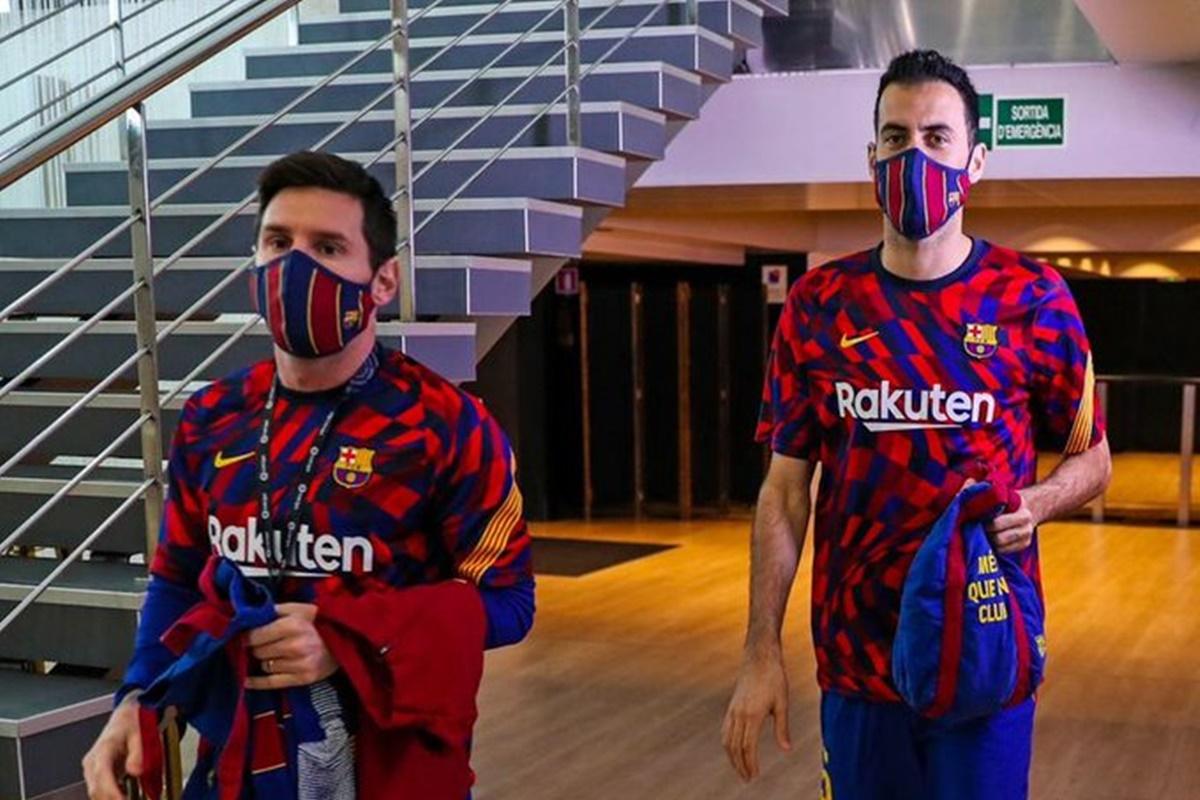 Messi recuperado tras las críticas que recibió. Foto: Twitter Barcelona